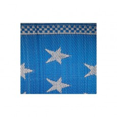 Natte plastique étoiles - Bleu et blanc
