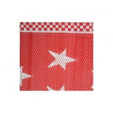 Natte plastique étoiles - Rouge et blanc