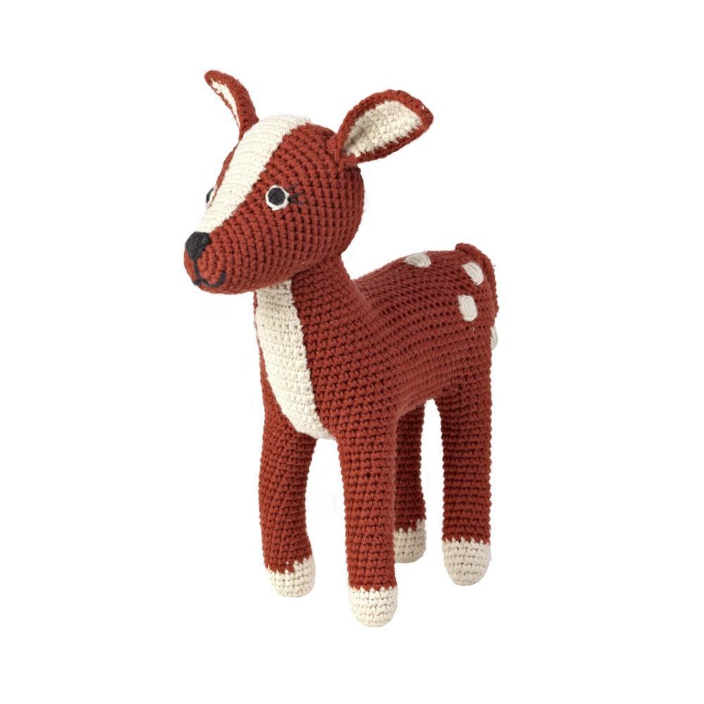 doudou bambi brun roux anne claire petit jeux jouets loisirs enfant smallable. Black Bedroom Furniture Sets. Home Design Ideas