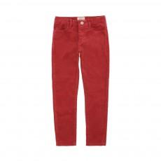 Pantalon Skinny Velours Vinata Rouille