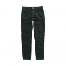 Pantalon Skinny Velours Vinata Vert sapin