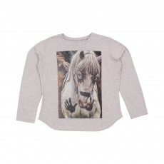 T-shirt Cheval Viln Gris chiné