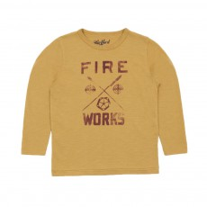 T-shirt Fire Works Ocre