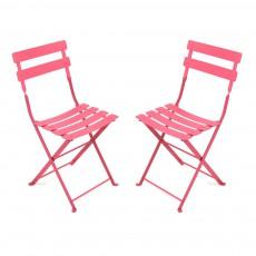 Lot de 2 chaises Tom Pouce Rose fuschia