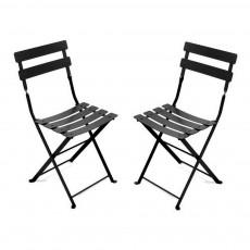 Lot de 2 chaises Tom Pouce Noir