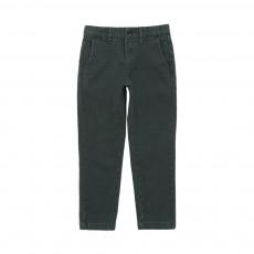 Pantalon Chino Slim Piero Vert foncé