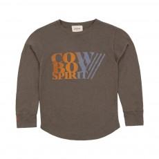 T-shirt Cowboy Volto Vert kaki