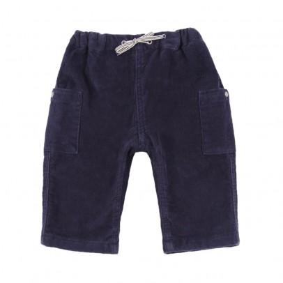 Pantaloni Velluto Lover Blu notte