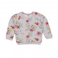 Sweat Fleurs Molleton Lotion Multicolore
