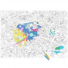 Coloriage Géant Cosmos