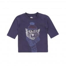 T-shirt Ours Bleu marine