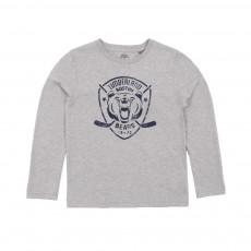 T-shirt Ours Gris chiné