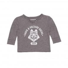 T-shirt Tunisien Loup 1989 Gris