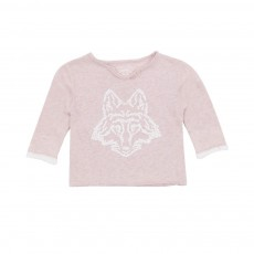 T-shirt Tunisien Loup Boxi Rose