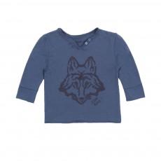T-shirt Tunisien Loup Bleu marine