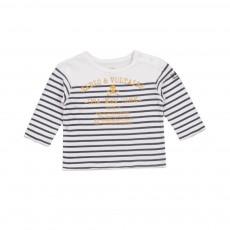 T-shirt Mariniere Sunny Blanc