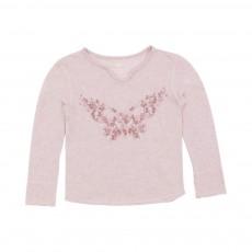 T-shirt Papillon Rose