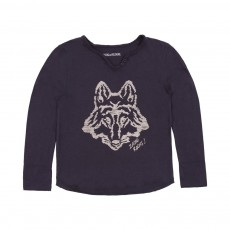 T-shirt Loup Gris anthracite