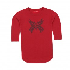 Robe Papillon Flake Rouge