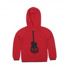 Gilet Zippé Guitare Mario Rouge