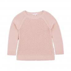 Pull Tricot  Point Bulles Rose poudré
