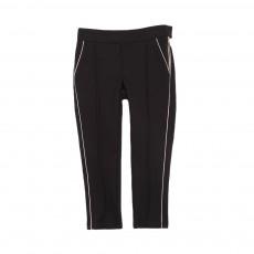 Pantalon Milano Passepoil Doré Noir