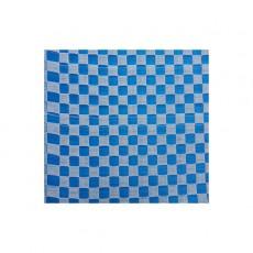 Natte plastique Vichy - Bleu et blanc