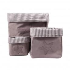 Boîte de rangement Gris - Etoile grise