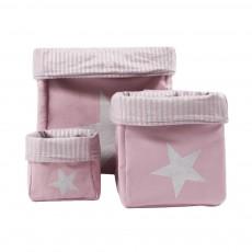 Boîte de rangement Etoile - Beige rosé