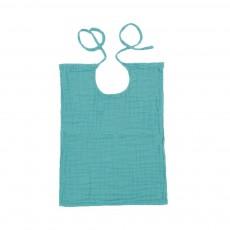 Bavoir carré Bleu turquoise