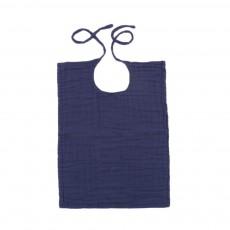 Bavoir carré Bleu marine