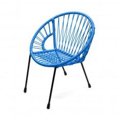 Fauteuil Tica grand modèle Bleu
