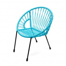 Fauteuil Tica grand modèle Bleu turquoise