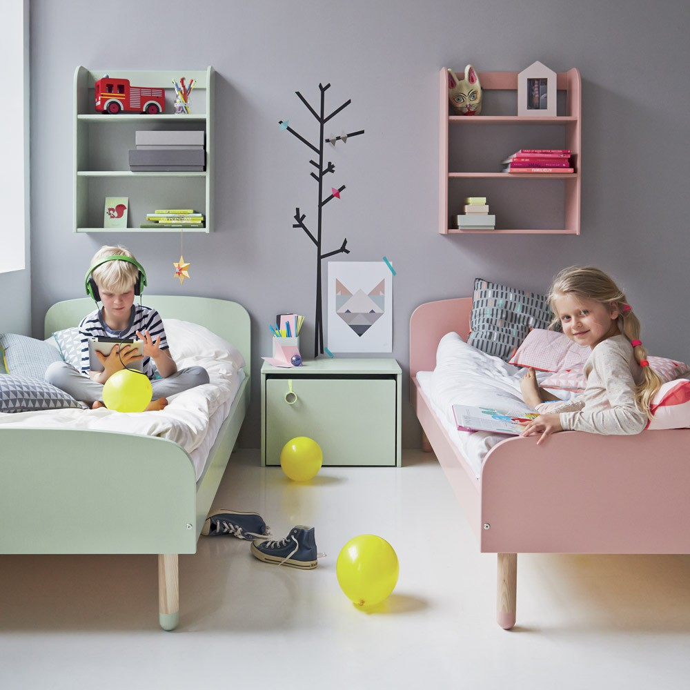 lit enfant 90x200 cm vert d 39 eau flexa play mobilier smallable. Black Bedroom Furniture Sets. Home Design Ideas