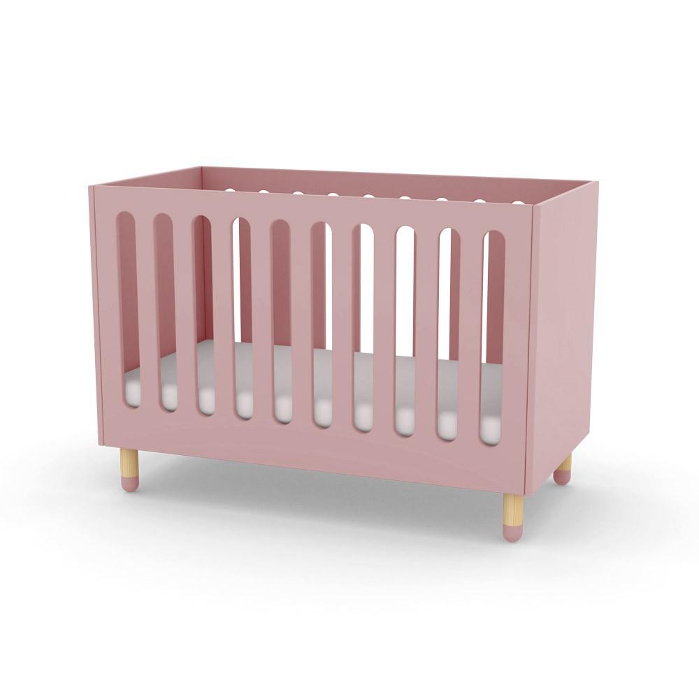 lit b b barreaux rose poudr flexa play mobilier. Black Bedroom Furniture Sets. Home Design Ideas