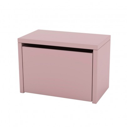 table de chevet coffre de rangement rose poudr flexa play. Black Bedroom Furniture Sets. Home Design Ideas