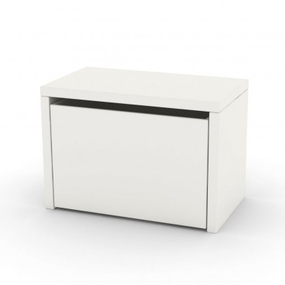 Table de chevet coffre de rangement blanc flexa play mobilier smallable - Coffre de rangements ...