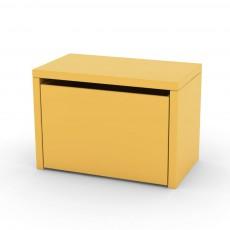 Table de chevet/coffre de rangement Jaune