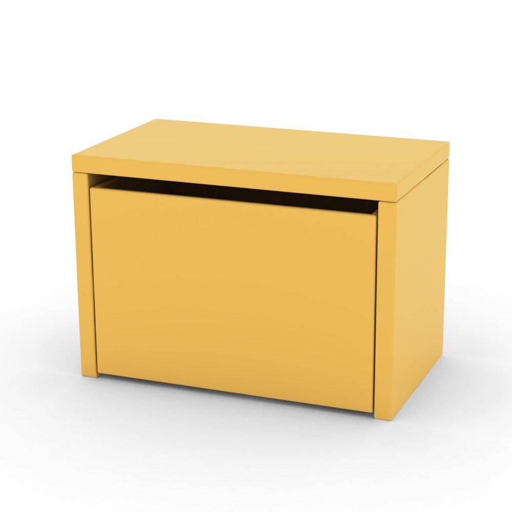Table de chevet coffre de rangement jaune flexa play - Table de chevet jaune ...