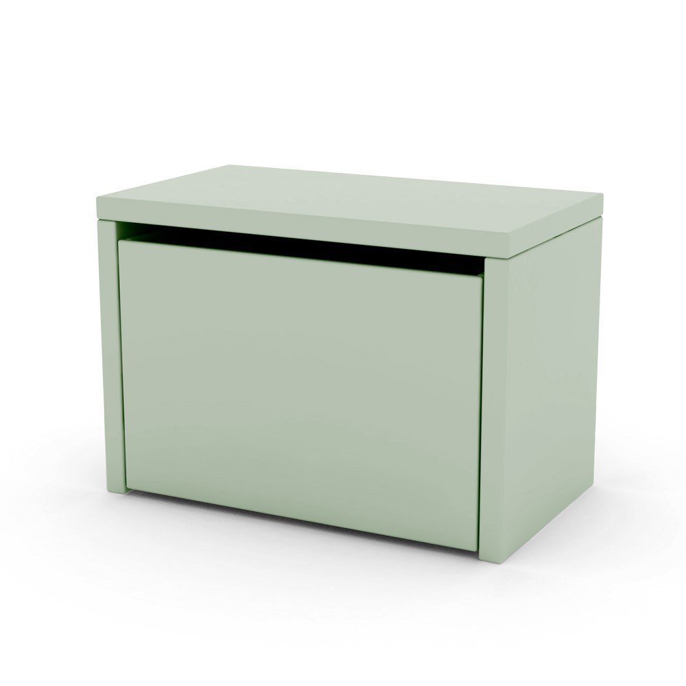 Table de chevet coffre de rangement vert d 39 eau flexa play - But table de chevet ...