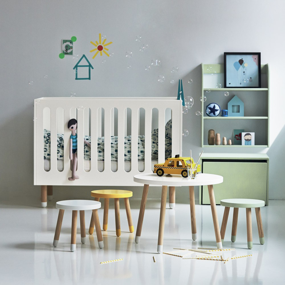 Table de chevet coffre de rangement vert d 39 eau flexa play for Table de chevet enfants