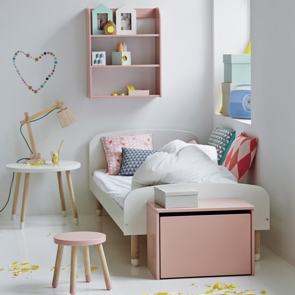 tabouret enfant rose poudr flexa play mobilier smallable. Black Bedroom Furniture Sets. Home Design Ideas