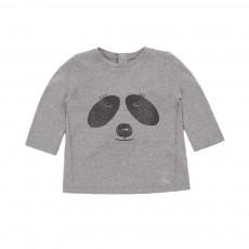 T-shirt Panda Gris chiné