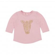 T-shirt Zèbre Rose pâle