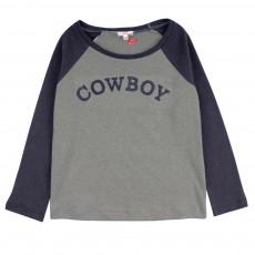 T-shirt Bicolore Cowboy Gris clair