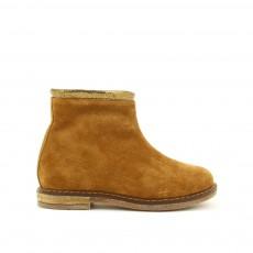 Boots Zippées Trip Stripes Camel
