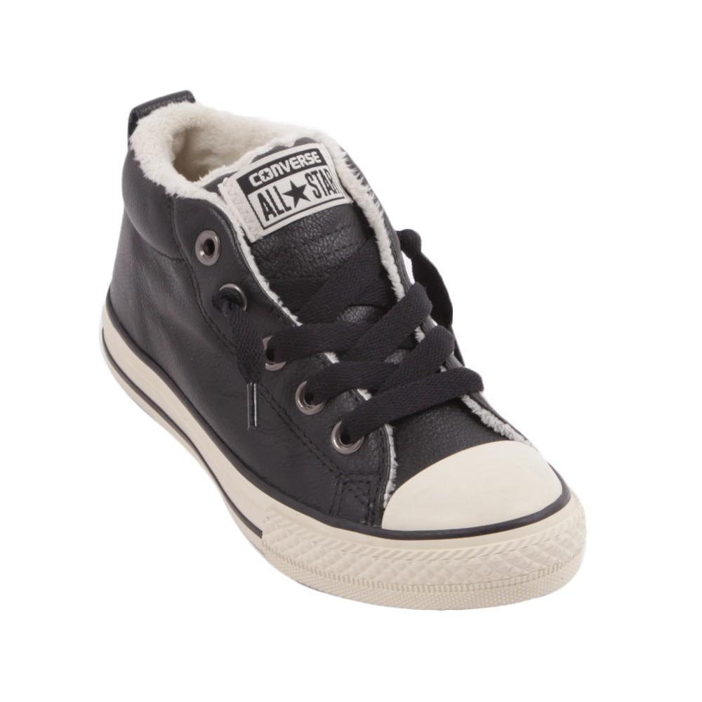 baskets cuir lea noir converse chaussures smallable. Black Bedroom Furniture Sets. Home Design Ideas