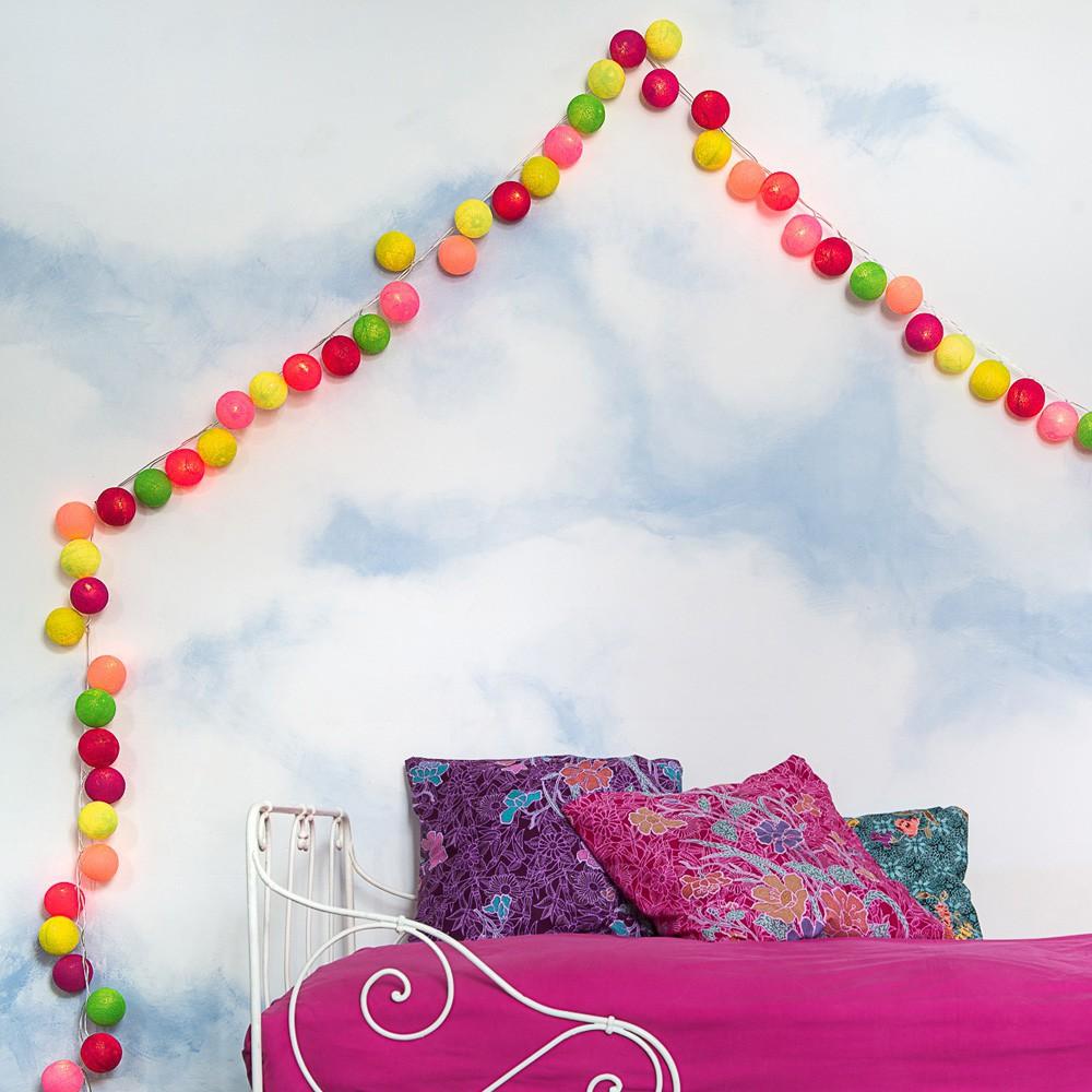 guirlande lumineuse 20 boules tao tong la case de cousin. Black Bedroom Furniture Sets. Home Design Ideas