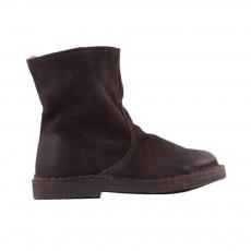 Boots Zippées Fourrées Chocolat