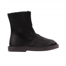 Boots Zippées Fourrées Noir